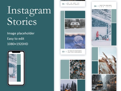 Winter Album Instagram Stories Template