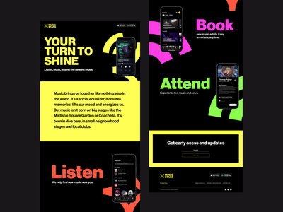 Musicstars Landing Page landing page website user interface user experience mobile app