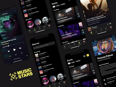 Musicstars Mobile App mobile app design user experience user interface mobile app