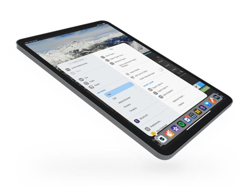iPad Main Menu – iPadOS 14 Concept concept redesign menu ipados ui apple sketch.app design private