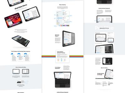 iPad Main Menu – Website concept ui redesign design website apple private sketch.app