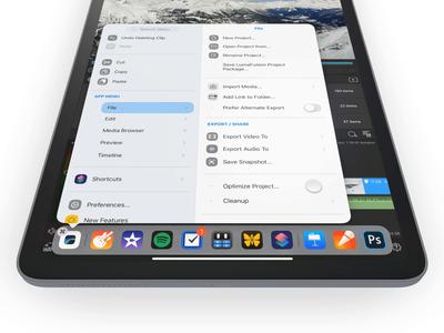 iPad Main Menu – Interaction Detail – Show Menu ipad interaction ui design ui concept ipados private sketch.app redesign apple