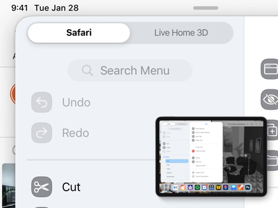 iPad Main Menu – Interaction Detail – App Switch study ui design ui private ipados ipad interaction concept redesign sketch.app apple