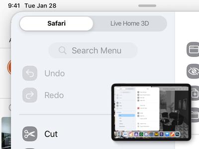 iPad Main Menu – Interaction Detail – App Switch study ui design ui private ipados ipad interaction concept redesign sketch.app apple