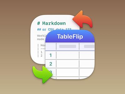 TableFlip – Mac App Icon – Big Sur app icon big sur logo mac icon apple icon redesign work sketch.app