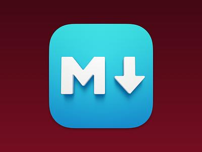 MacDown – App Icon Replacement for Big Sur markdown big sur app icon mac icon icon redesign 3d icon 3d art text 4 sketch.app