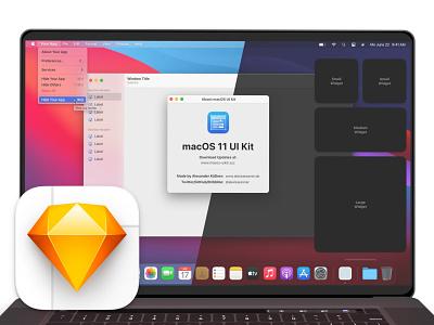 macOS 11 Big Sur UI Kit – for Sketch macos big sur macos ui kit design ui kits ui design ui kit ui apple design sketch.app