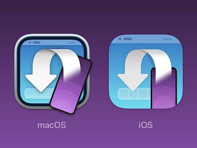 Transloader 3 – macOS and iOS App Icon ios icon ipad icon iphone icon ipados ios macos app icon icon redesign work sketch.app