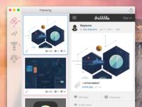 Play by Play for Yosemite redesign redesign sketch.app rebound mac ui practice light yosemite