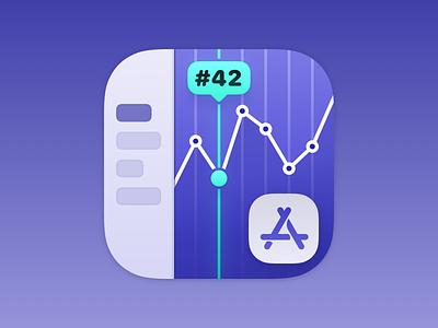 Keewordz for iOS chart ios app icon ios icon ios app icon logo icon work sketch.app