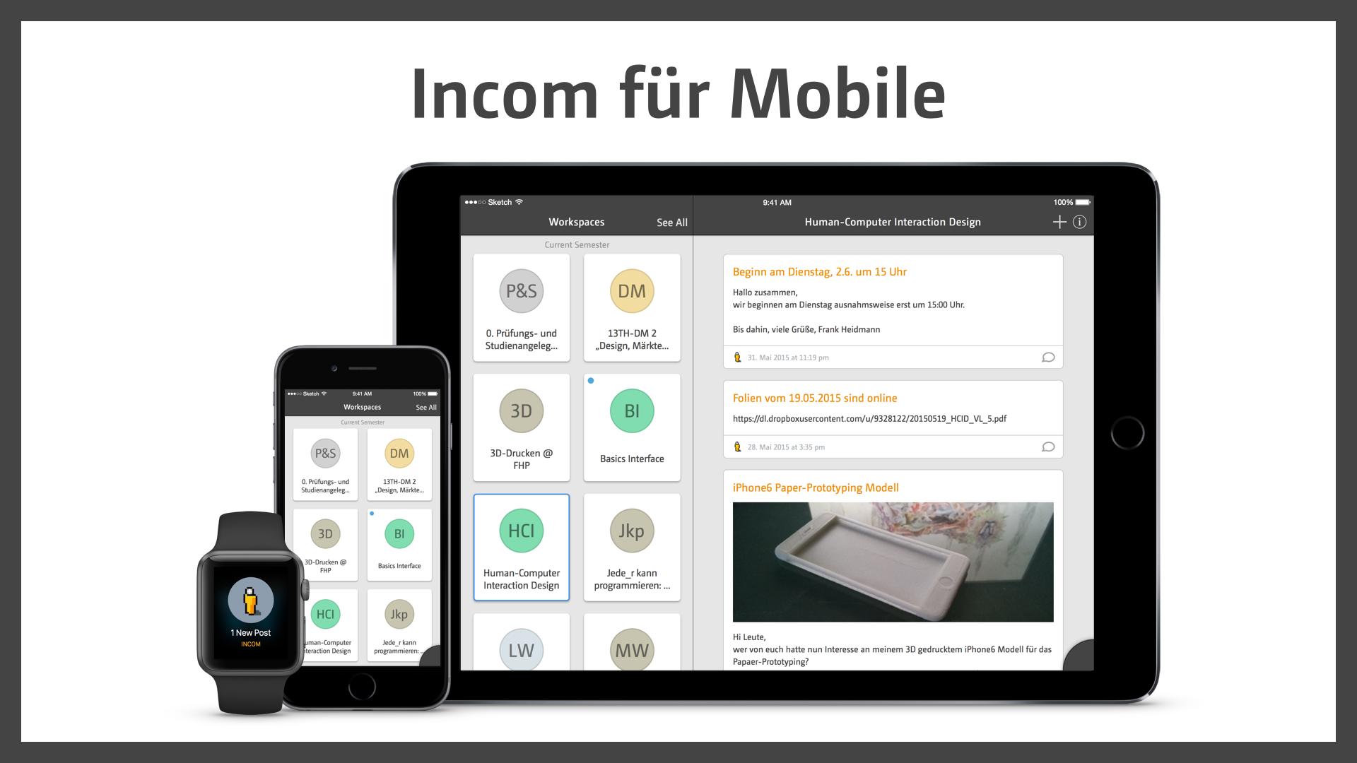 Incom for mobile
