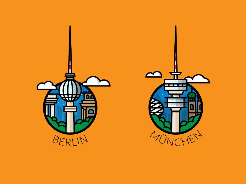 berlin vs munich illustration by alexander k ner On illustrator job berlin