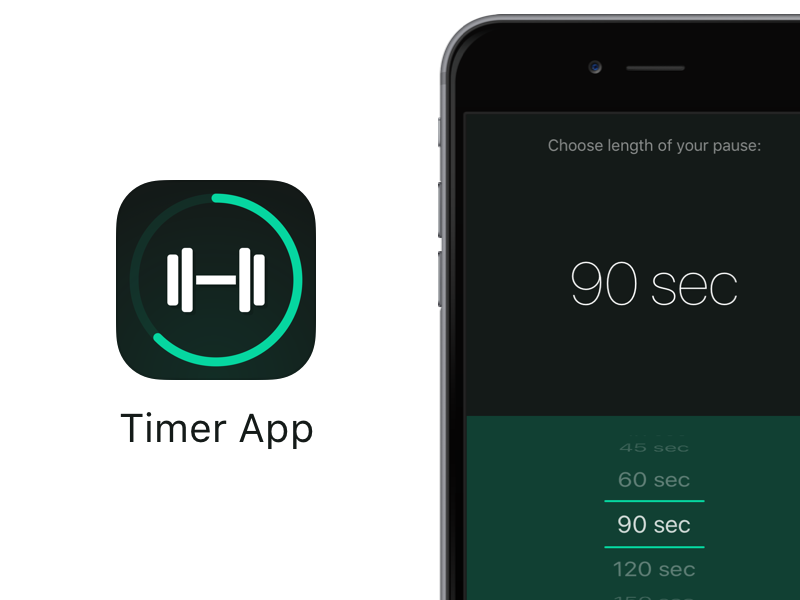 Timer App (iOS App Icon & UI) by Alexander Käßner on Dribbble