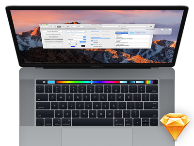 MacBook Pro with Touch Bar (for Sketch) yosemite touch bar sketch.app private mac ui apple