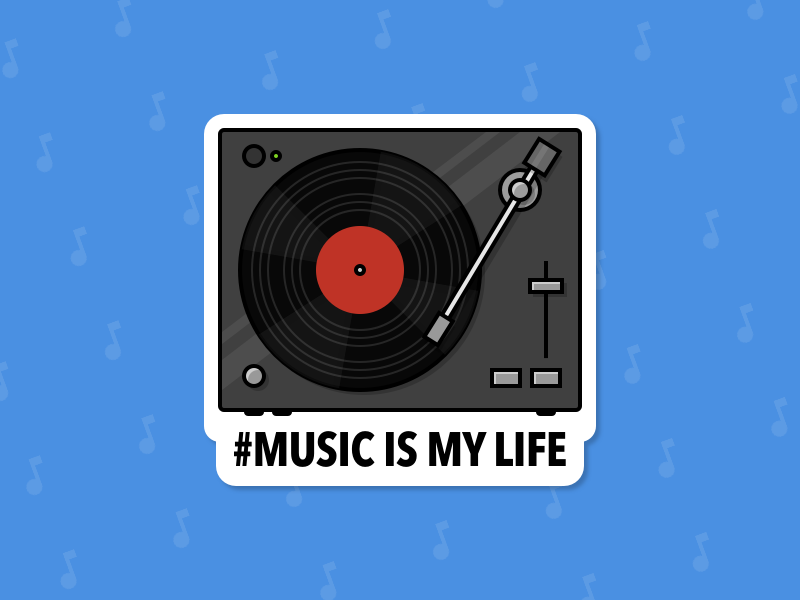 #MUSIC IS MY LIFE - Sticker illustration sketch.app private