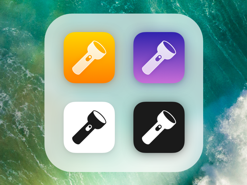 alternate flashlight app icons for MyLight icon fingercoding sketch.app private iphone icon apple