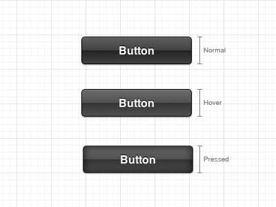 2 black and glossy css button