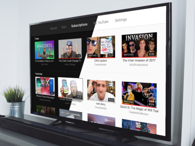 YouTube Apple TV Redesign