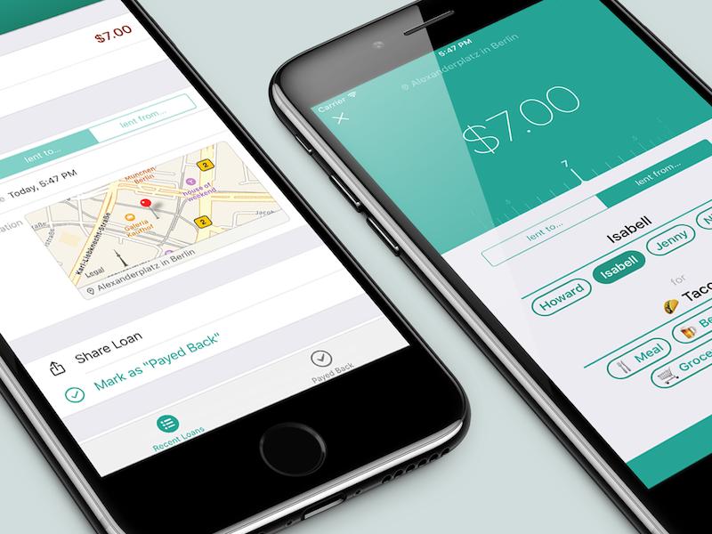 MyLoans - iPhone UI apple iphone ui private sketch.app work