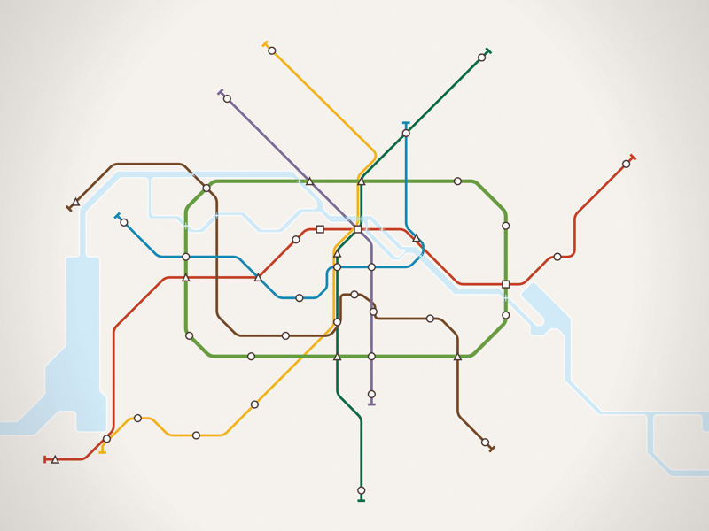 Mini Metro Berlin (Poster) poster print private