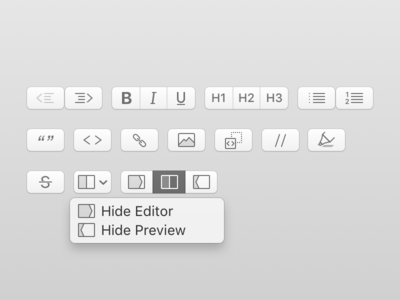 MacDown Toolbar Icons sketch.app macos icon opensource private work