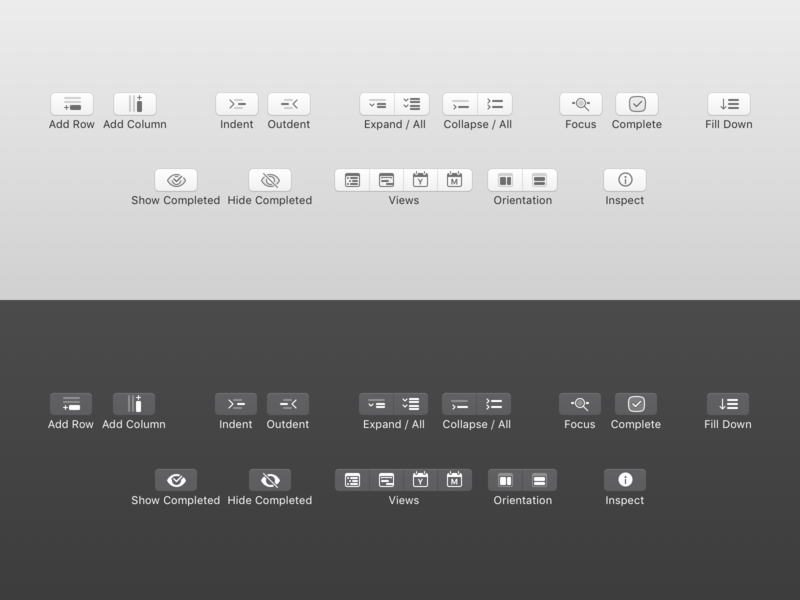 Toolbar Icons for macOS toolbar icon toolbar mac ui icon work sketch.app