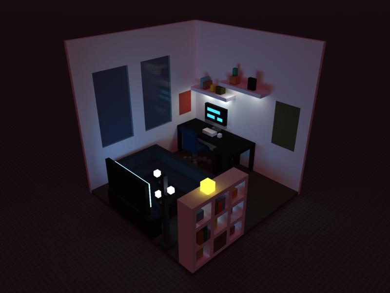 Voxel Room fun voxel art voxel 3d magicavoxel
