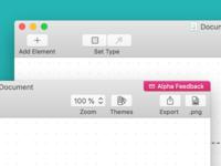 Diagrams App - macOS Toolbar Icons