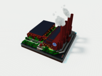 Volkswagen Factory out of Voxels