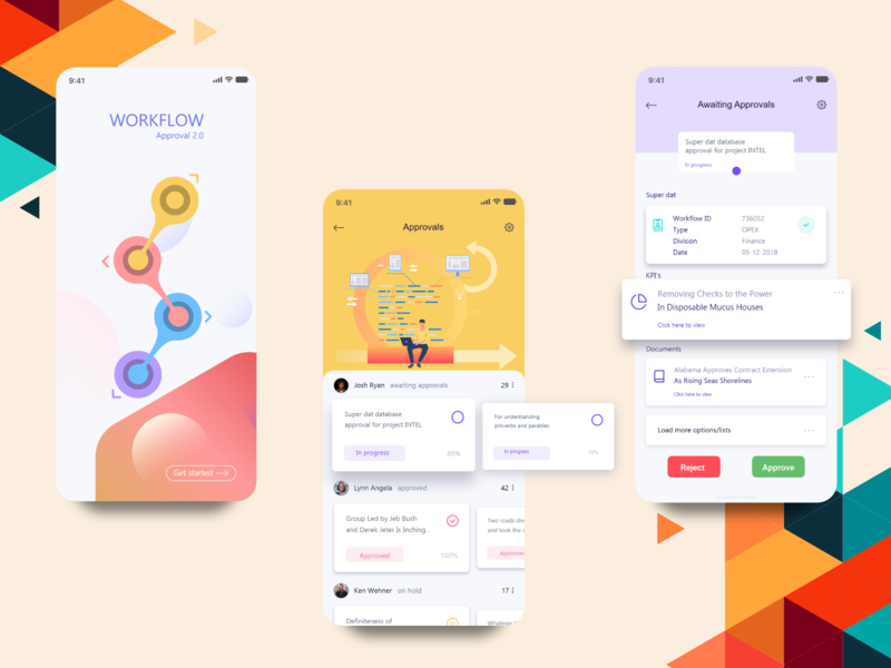 Workflow Approval App - Additional Screens app ui ux adobe illustrator cc adobe xd ui  ux mobile ui mobile app design mobile app illustraion design confirmation workflow approval app design acitvity accessibility