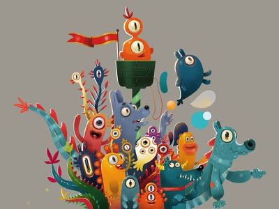 monster art draw photoshop monster mascot character design characterdesign illustration art illustrator illustration illustrateur