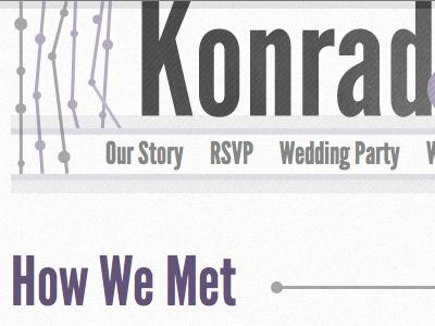 KonradandElisabeth.us purple wedding header