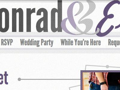 KonradandElisabeth.us (2) wedding purple header ampersand