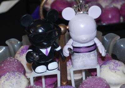 Cake & Toppers wedding purple disney mickey cake vinylmation