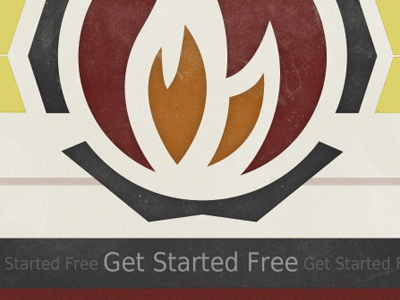 Get Started Free logo fire texture