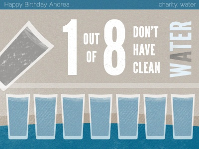 Happy Birthday Andrea water tan charitywater blue