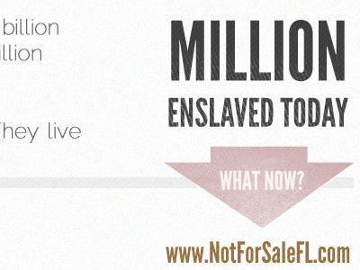 What Now? abolitionist portfolio red orange slavery not for sale