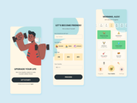 habit tracker app concept mobile app design mobile ui emoji app habit tracker mobile illustration figma design