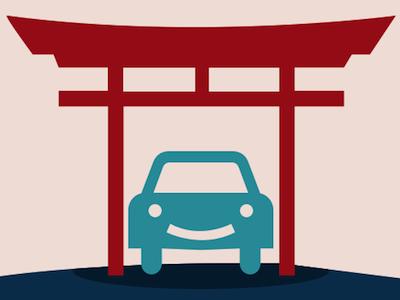 carport.io – park without worry parking logo car zen road