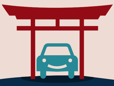 carport.io – park without worry parking logo car zen road