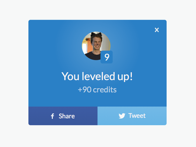 Achievement notifications share social gamification