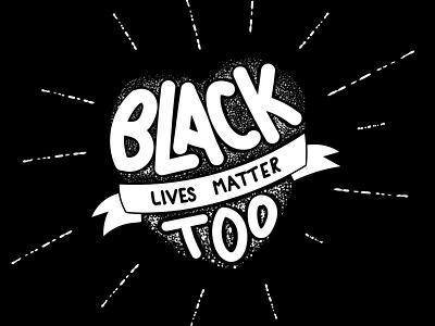 #BlackLivesMatter t-shirt design hand drawn handlettering stop racism black lives matter typography vector illustration dark design