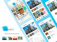Layers - application mockup