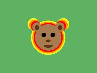 Simple Bear bear logo idea flat design persona