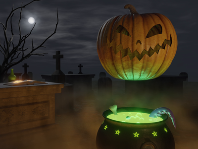 Pumpkin Possession blender 3d 3d animation mocktober