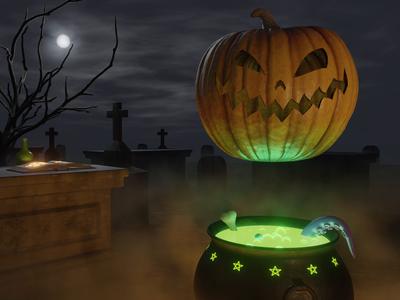 Pumpkin Possession blender 3d 3d animation mocktober