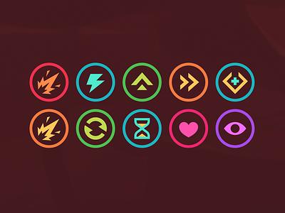 Far Skate - Skill icons ability skill mobile icon vector ui interface game design