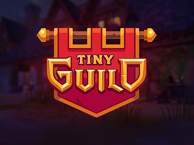 Tiny Guild - Game logo typography design type banner medieval fantasy rpg game logo