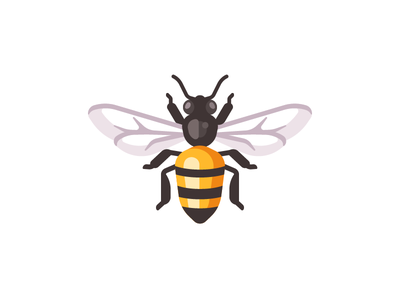 Bee wasp insect bee daily illustration vector design flat
