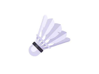 Shuttlecock game sports badminton tennis shuttlecock daily illustration vector design flat